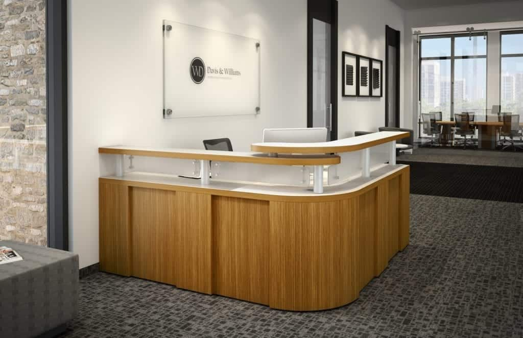Reception Desk Modern Manhattan Used Office Furniture Chicago Store Cubicle Concepts